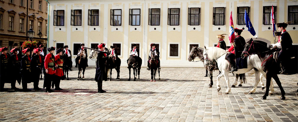 Changing of the Guard - Guard of Honour of the Cravat Regiment